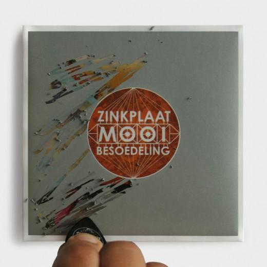 Zinkplaat creative CD packaging