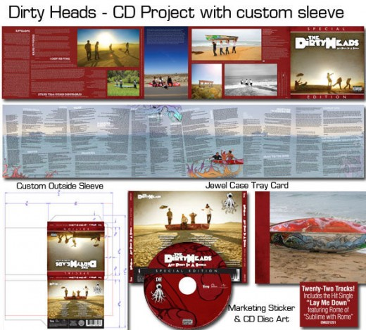 Dirty Heads CD packaging