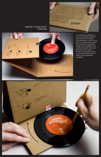 vinyl sleeve record player packaging