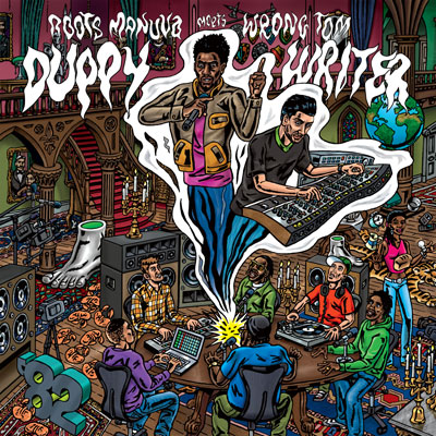 "CD packaging, Roots manuva, Greensleeves, Wrong Tom, Duppy Writer, CD album art, CD artwork, Album packaging, CD Packaging of the Week: Roots Manuva meets Wrong Tom – ""Duppy Writer"""