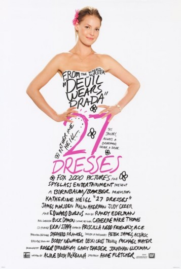 film-marketing-twenty-seven-dresses-movie-poster