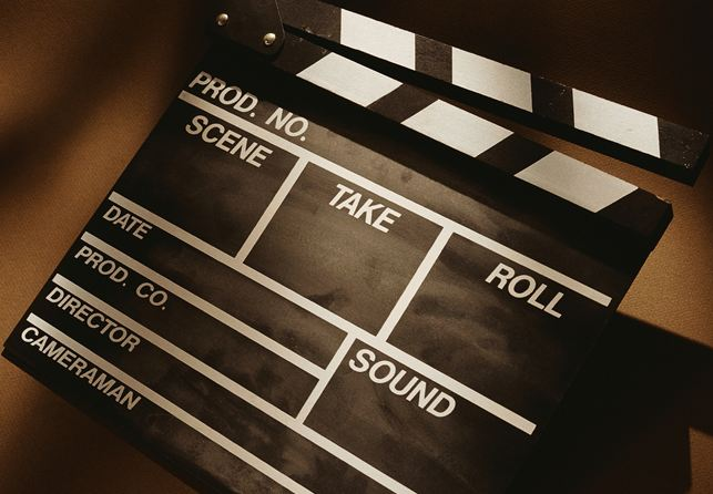 film shoot clapper board