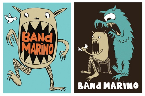 band-marino-band-promo-stickers