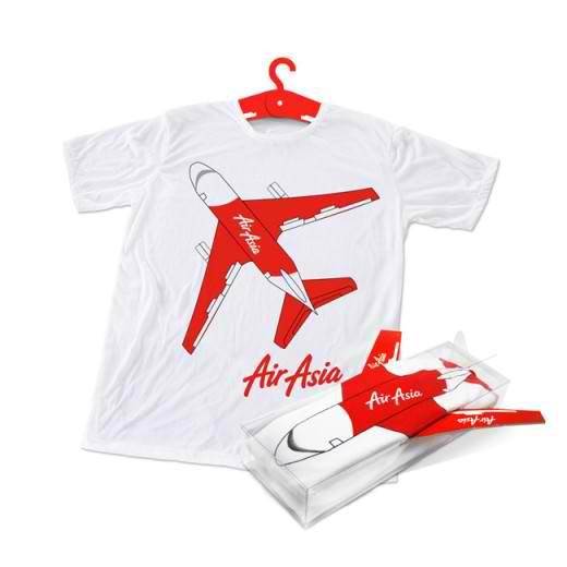 airplane t-shirt packaging