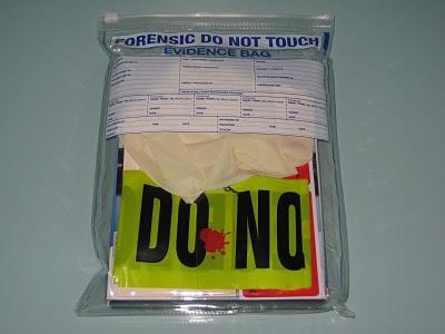 DVD dexter packaging evidence bag