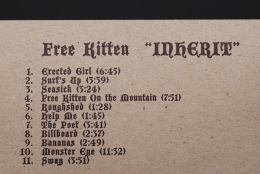 , CD Packaging: Free Kitten – Inherit