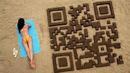sand castle qr code design 1