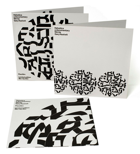 "Bluray packaging, Bluray Packaging: Helvetica's ""Record"" Sleeve Packaging"