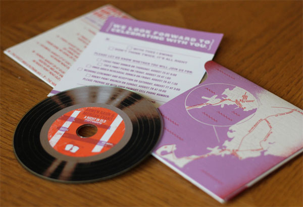 vinyl invitations, Creative CD & Vinyl Invitations