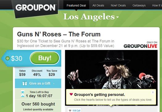 Guns N Roses Groupon 1