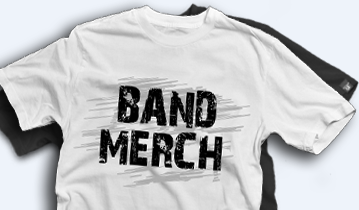 band merch t shirt printing