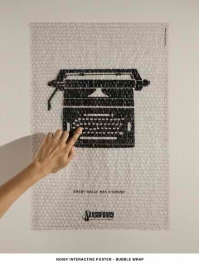 cool bubble wrap poster