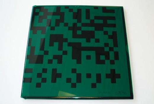 vinyl packaging with QR code green