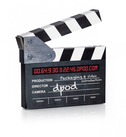 DVD packaging, DVD Packaging: Cardboard Clapper Board