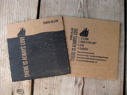 cardboard stamped CD packaging