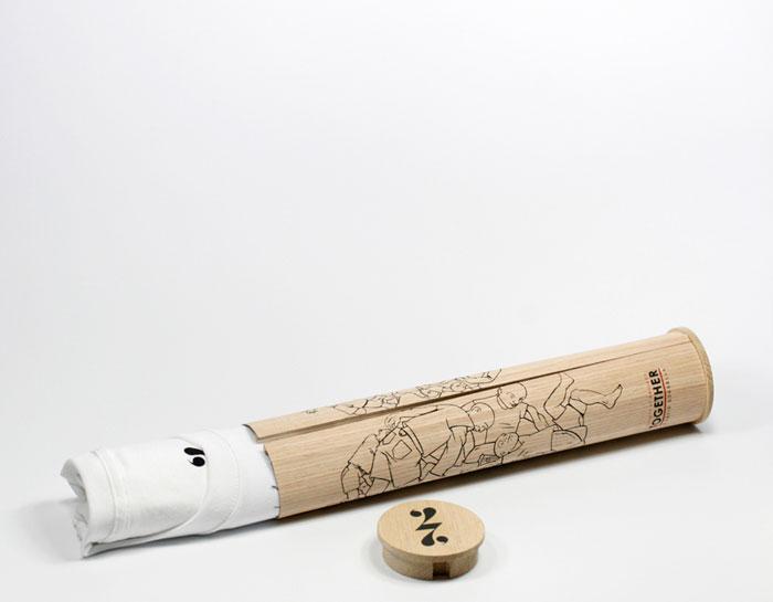 T-shirt Packaging: Society 27 bamboo tube