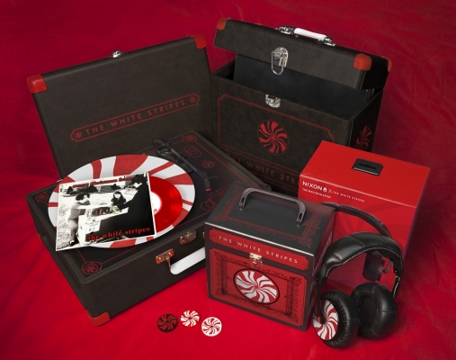 grammy music packaging white stripes