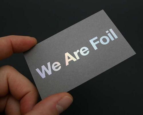 foil stamped cardboard