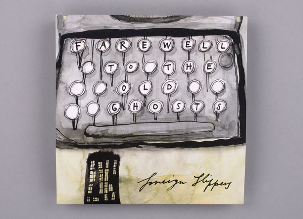 CD Packaging: Foreign Slippers typewriter