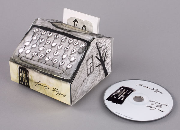 typewriter CD packaging