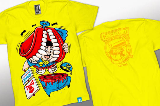t-shirt packaging, Yummy T-Shirt Packaging by Johnny Cupcakes and Junk Food Clothing