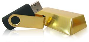 usb CD case gold bar