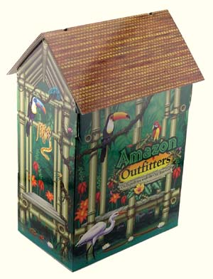 DVD collection cardboard house