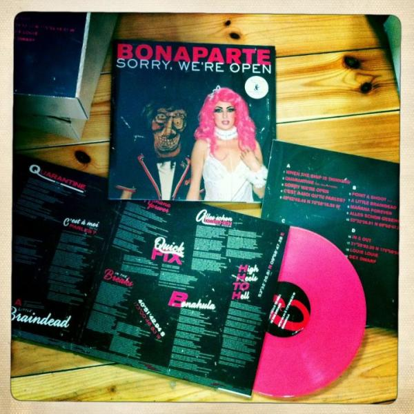pink vinyl record bonaparte