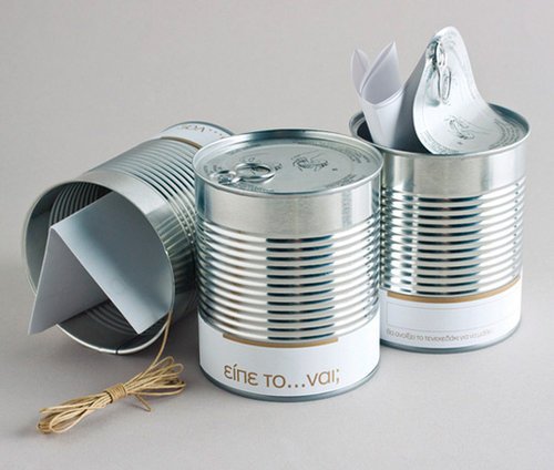 wedding invitation cans
