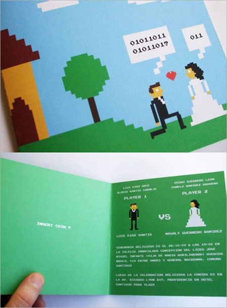 atari wedding invitation