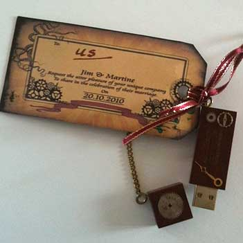 wedding invitation USB