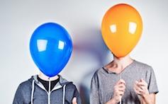 USB launch album balloons