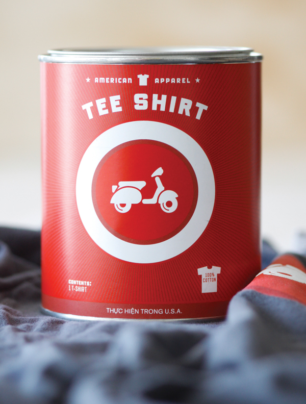 american apparel t-shirt paint can