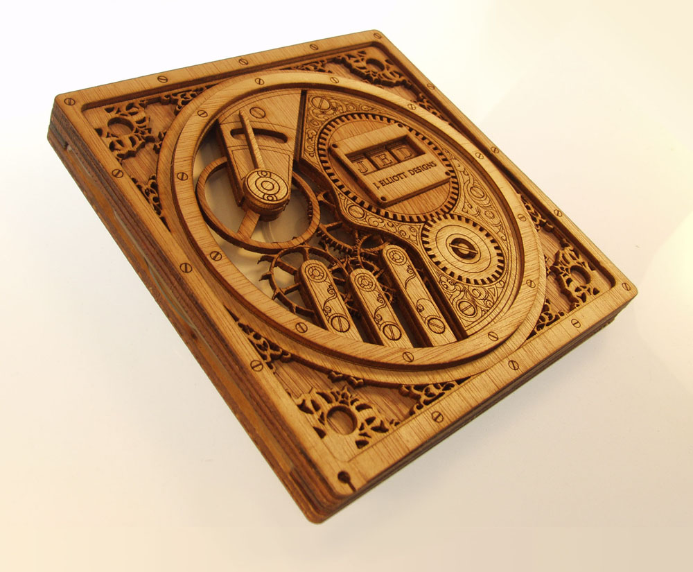 Clockwerk wood DVD case