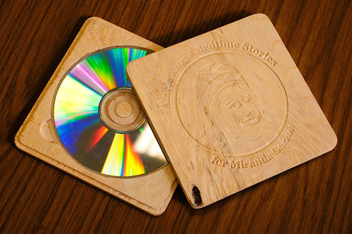 wood slim cd case