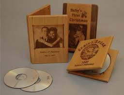 wooden cd packaging