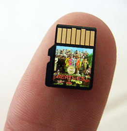 beatles music release gimmick flash card