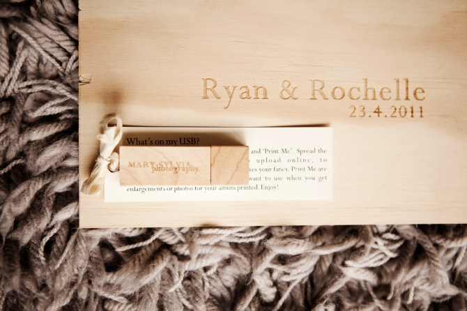 Wooden USB Drive invitation