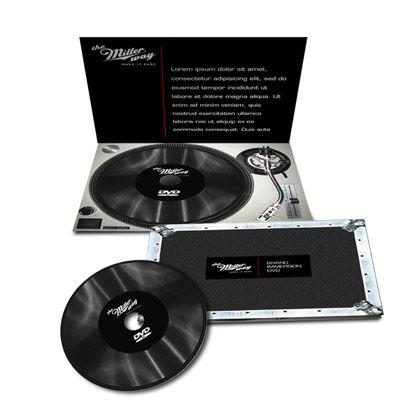 vinyl packaging creative