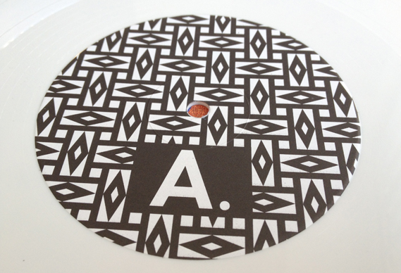 sideways record sleeve black and white