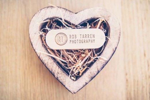 wood wedding USB
