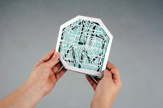 cd packaging paper cut out design