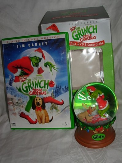The Grinch DVD snowglobe