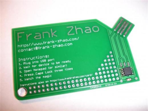 modern usb card