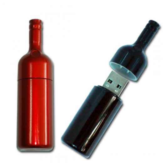 USB flash drive bottle