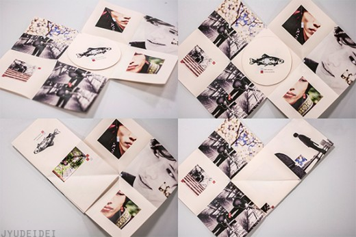 Foldable paper CD packaging