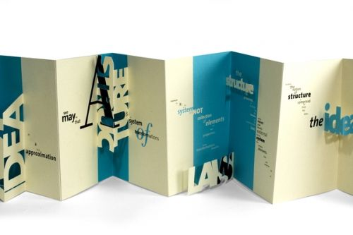 pop up brochure example
