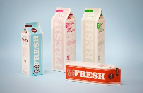 milk carton t-shirt packaging