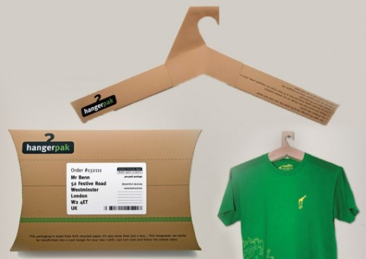 hanger creative t-shirt packaging