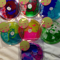 liquid-filled vinyl records